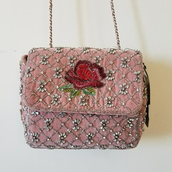 04c67c871ec Zara Bags   Nwt Rhinestone Embroidered Bag   Poshmark